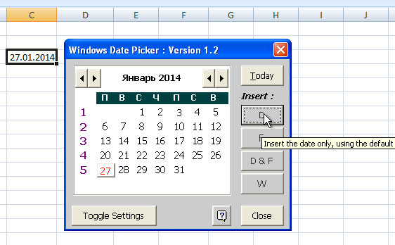 How to insert a calendar into an excel spreadsheet  Creating